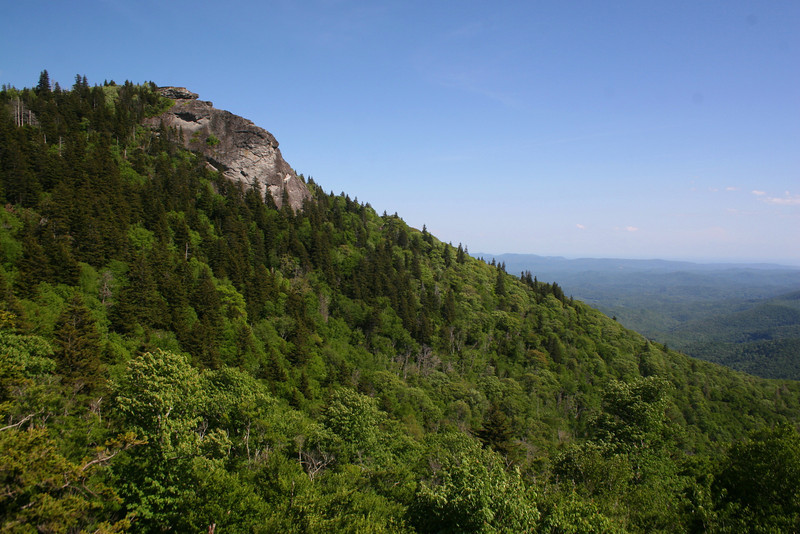 The classic view of the Courthouse from the overlook and trailhead along the Blue Ridge Parkway...
