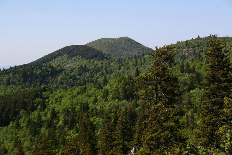 A closer look at Sam Knob, one of 40 peaks in excess of 6,000 feet in the southern Appalachians...