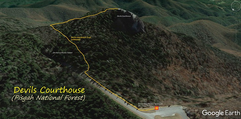 Devils Courthouse Hike Route Map