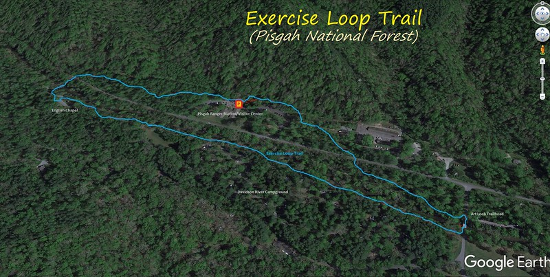 Exercise Loop Trail Hike Route Map