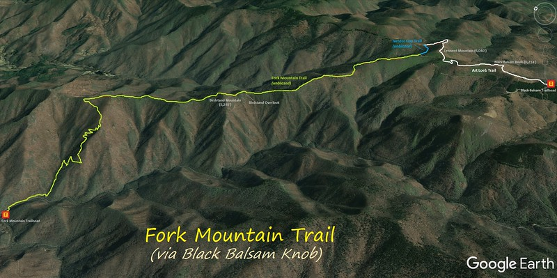 Fork Mountain Trail Hike Route Map