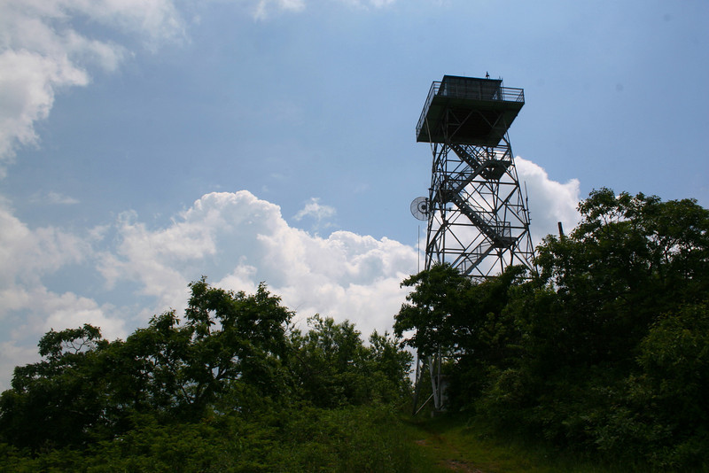The Fryingpan Lookout Tower is a giant amongst southern Appalachian lookouts.  Standing 70' tall it commands one of the most extensive views of any and I was anxious to get to the top!!!