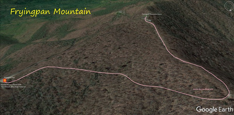 Fryingpan Mountain Hike Route Map