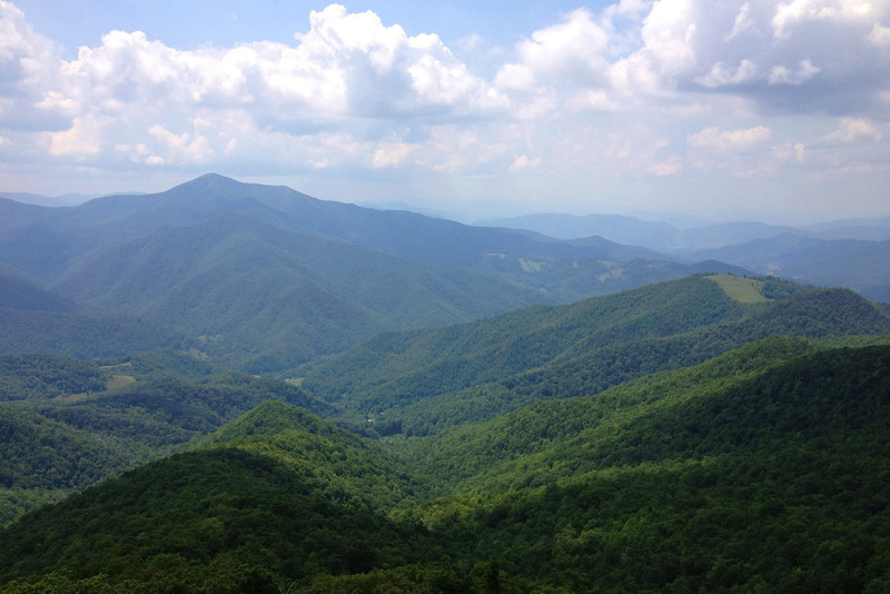 I had heard that this was the best view, bar-none, of Cold Mountain (6,040') you can find...I won't argue...