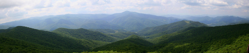 Another panorama in the direction of Cold Mountain...