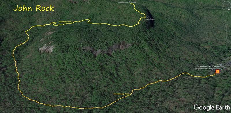 John Rock Hike Route Map