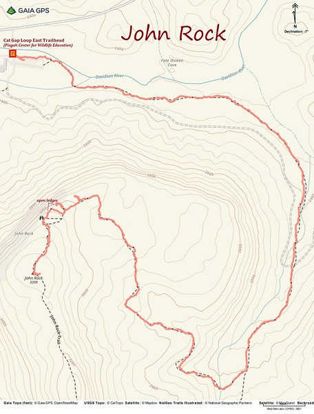 John Rock Hike Route Map