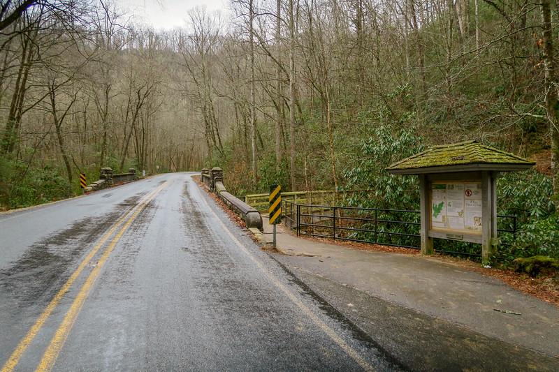 Moore Cove Falls Trailhead -- 2,450'