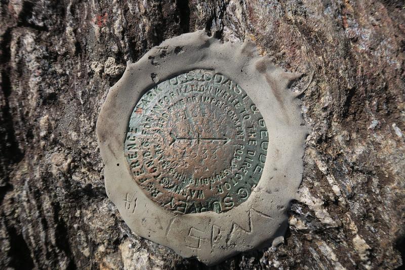 Mount Pisgah Summit Benchmark - 5,721'