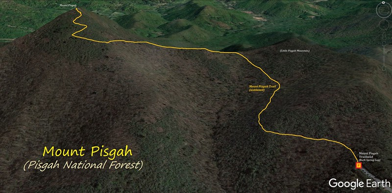 Mount Pisgah Hike Route Map