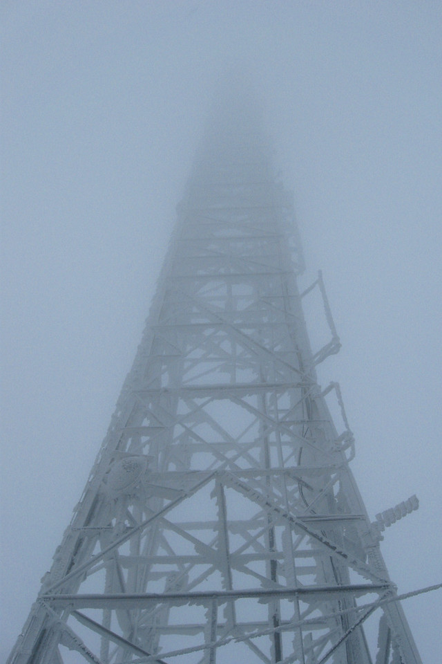How good was the visibility?  Well, the tower is 339' tall and I couldn't see the top, so not good...