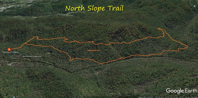 North Slope Trail Route Map