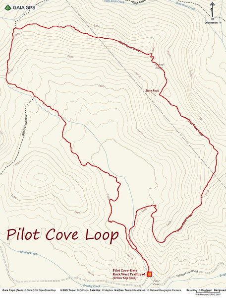 Pilot Cove Loop Hike Route Map