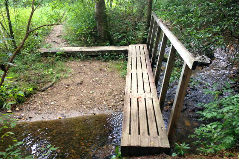 Not sure I've hiked a trail with the variety of bridges that this one has...