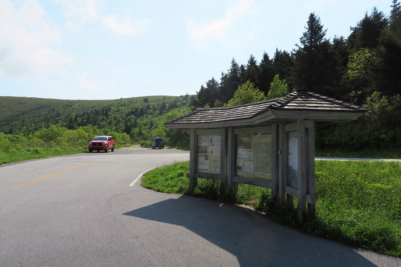 Black Balsam Road Trailhead -- 5,800'