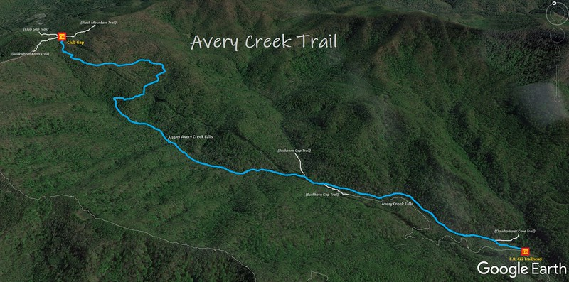 Avery Creek Trail Map