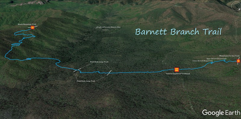 Barnett Branch Trail Map