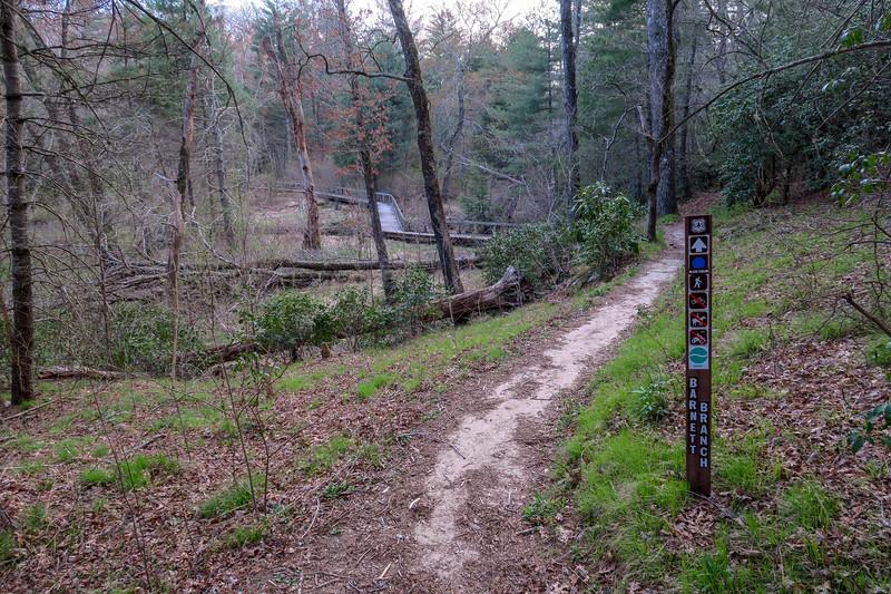 Barnett Branch Trail -- 3,190'