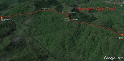Bennett Gap Trail Map
