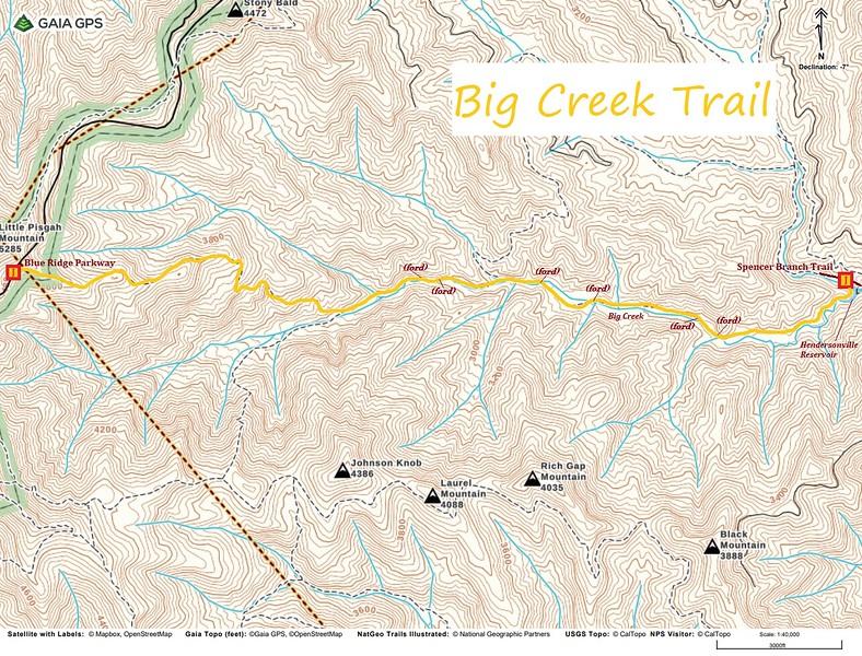 Big Creek Trail Map