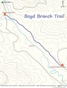 Boyd Branch Trail Map
