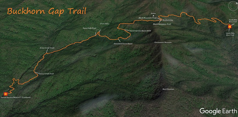 Buckhorn Gap Trail Map