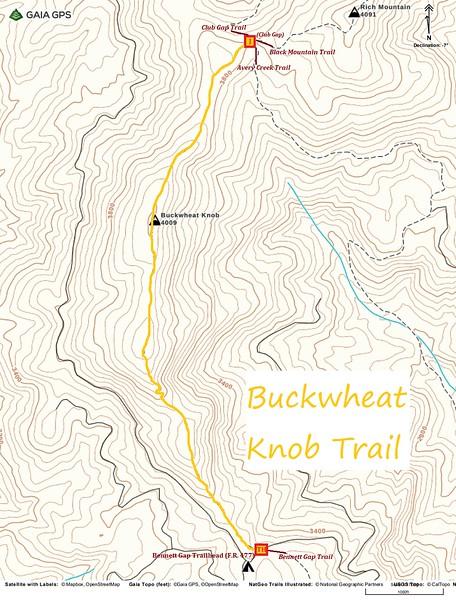 Buckwheat Knob Trail Map