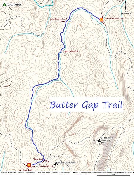 Butter Gap Trail Map