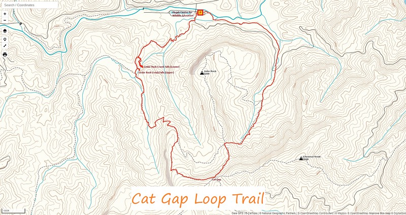 Cat Gap Loop Trail Map