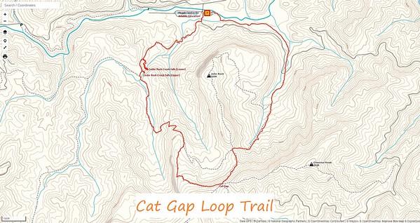 Cat Gap Loop Trail Map