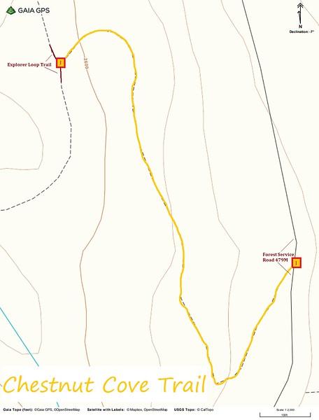 Chestnut Cove Trail Map