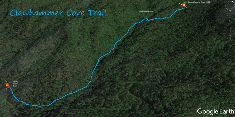 Clawhammer Cove Trail Map