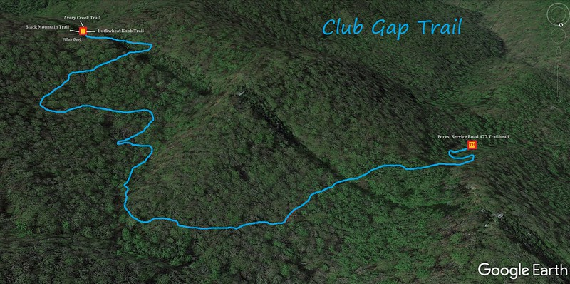 Club Gap Trail Map