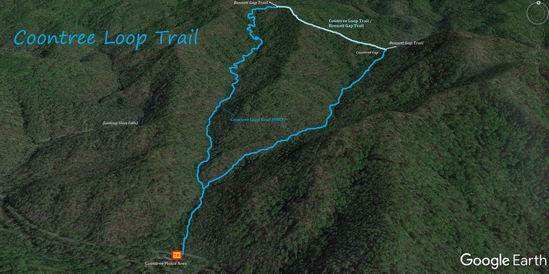 Coontree Loop Trail Map