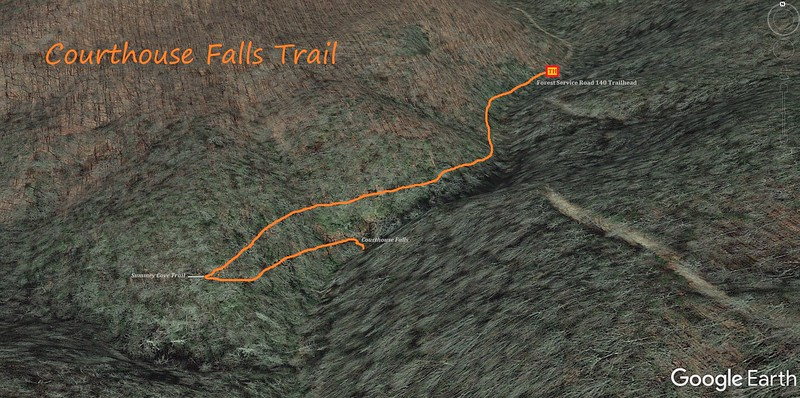 Courthouse Falls Trail Map