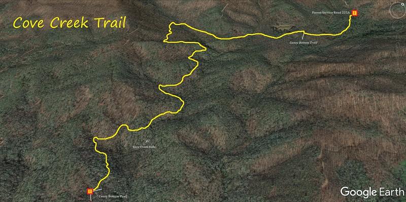Cove Creek Trail Map