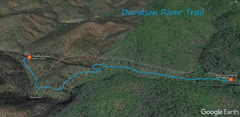 Davidson River Trail Map