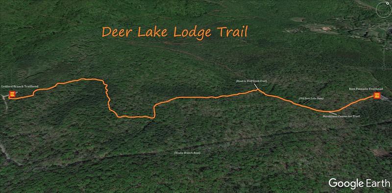 Deer Lake Lodge Trail Map