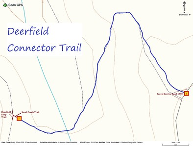 Deerfield Connector Trail Map