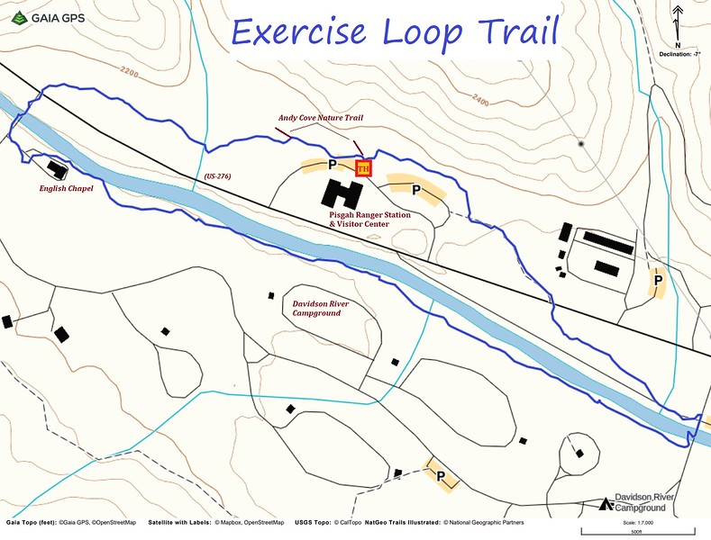 Exercise Loop Trail Map