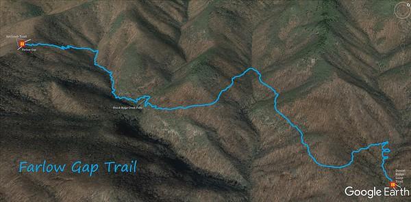 Farlow Gap Trail Map