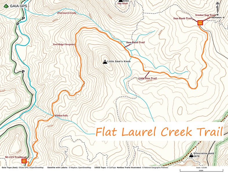 Flat Laurel Creek Trail Map
