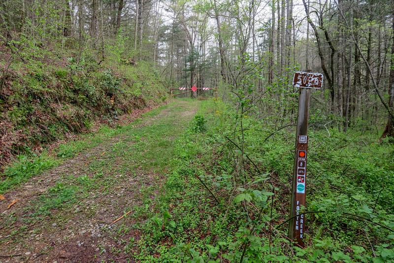 Foster Creek Upper Trailhead -- 2,240'