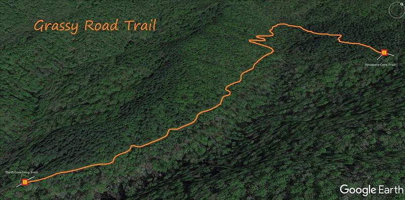 Grassy Road Trail Map