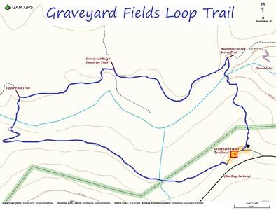 Graveyard Fields Loop Trail Map