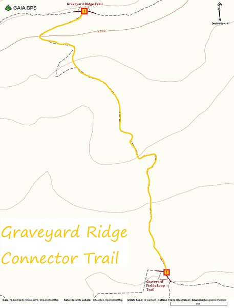 Graveyard Ridge Connector Trail Map