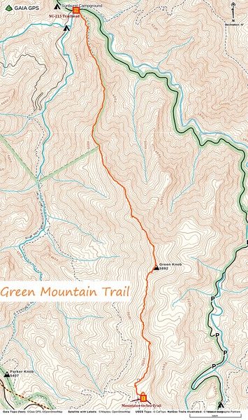Green Mountain Trail Map
