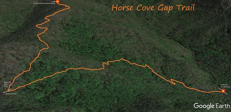 Horse Cove Gap Trail Map