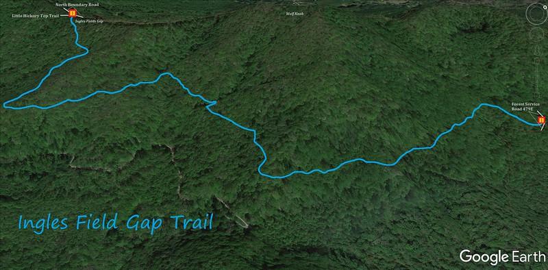 Ingles Field Gap Trail Map