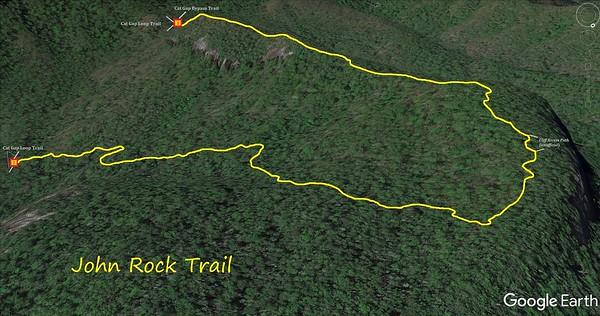 John Rock Trail Map